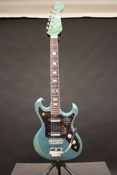 Vintage 1960s Telestar Sparkle Finish Electric Guitar w Tremolo Teisco Kawai | eBay