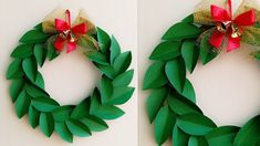 Christmas Wreath/Paper Christmas Wreath/How to make Christmas Wreath/Christmas Decoration Ideas wreath wreath making wreath making ideas christmas wreath # Paper Christmas Decorations, Christmas Origami, Christmas Paper Crafts, Christmas Wreaths To Make, Diy Christmas Ornaments, Christmas Christmas, Elegant Christmas, Rustic Christmas, 3d Quilling