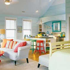 Pretty Bright Small Kitchen Color For Apartment Great Color Scheme Ideas For A Kitchen In A Studio Apartment A Mini