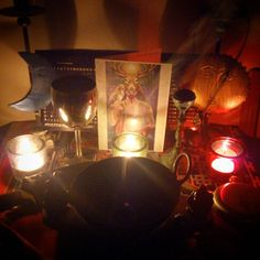 Another altar pic (from before I decluttered and rearranged)