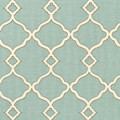 (Seafoam Green Outdoor Fabric for kitchen bench.) **   I like this pattern for dish towels maybe?