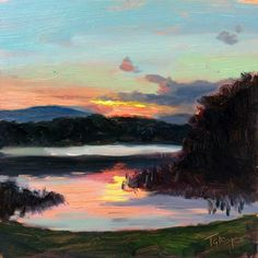 2/13/15 | Trout Lake Sunset Study | 6x6"
