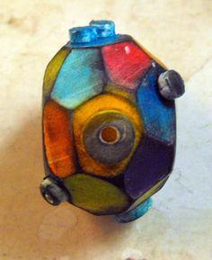 Art Bead Sputnik handmade from Polymer Clay by MargitBoehmer