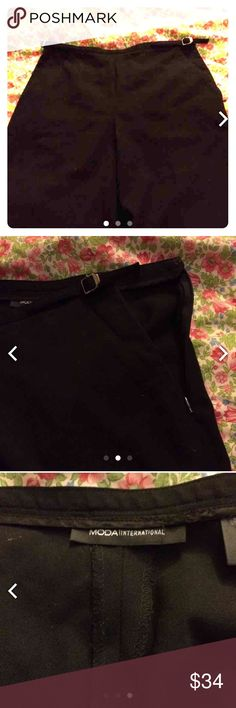 🎉NWOT🎉 Victoria's Secret business slacks These are new and have never been worn, Victoria's Secret - MODA International. They've just been laying around because they didn't fit me. Very nice business or casual slacks made of wool and have a straight legged fit.   98% Wool 2% Spandex Moda International Pants Trousers