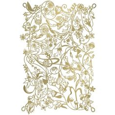 ThanksTord Boontje's florid fantasies are now available in modular panels. They easily link to form wall hangings, room dividers or screen curtains. Laser cut from plated steel and coated in brass or silver. awesome pin