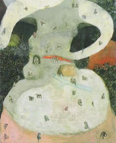 せかい 2012 oil on canvas  Nana Tsugawa