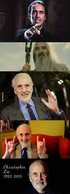 R.I.P Sir Christopher Lee ..we will miss him