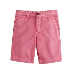 Boys' Stanton short in Dusty Berry for CrewKids by J.Crew.  My son's outfits might make him look like a color-coordinated Easter Egg, but hopefully, he'll think that's normal...