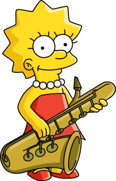 Lisa Simpson holding her saxophone Simpsons Lego, Lisa Simpsons, Simpsons Party, The Simpsons Movie, Simpsons Characters, Simpsons Tattoo, Simpsons Drawings, Cartoon Drawings, Saxophone
