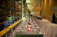 Operanation 2013 | Venue: Four Seasons Centre for Performing Arts | Mirage Chair, Milano Flatware, Dolce Crystal Glassware, Lagoon Grid Linen, Oatmeal Linen Napkin