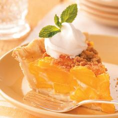Taste of Home Streusel Peach Pie     http://www.tasteofhome.com/recipes/Streusel-Peach-Pie