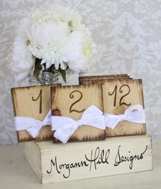 Rustic Table Numbers Shabby Chic Wedding Decor, beach wedding table number www.loveitsomuch.com
