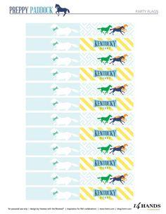 "FREE Kentucky Derby Party Printables – ""Preppy Paddock"""