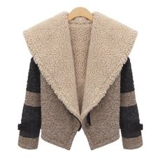 [grxjy560609]Fashion Lambswool Coat Thicken Cotton Overcoat