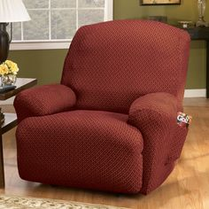 Sure Fit Stretch Sullivan Recliner Slipcover - 191331362G Sage