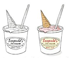 We are always so honored when one of Savannah's brilliant artists posts a piece featuring Leopold's Ice Cream. Love this one by Mackenzie Baker Illustration!