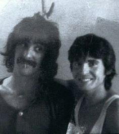 """You know I used to be a heartthrob, and now I'm a coronary."" // Photo: Davy Jones and Frank Zappa"