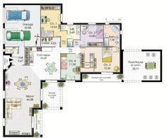Villa de plain-pied - Détail du plan de Villa de plain-pied | Faire construire sa maison