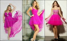 2017 Hot Pink Short Homecoming Dresses Chiffon Graduation Gowns Staps Hollow Back Party Dress High Low Grade Gowns Pretty Dresses, Sexy Dresses, Short Dresses, Fashion Dresses, Girls Dresses, Formal Dresses, Fashion Clothes, Dama Dresses, Long Gowns