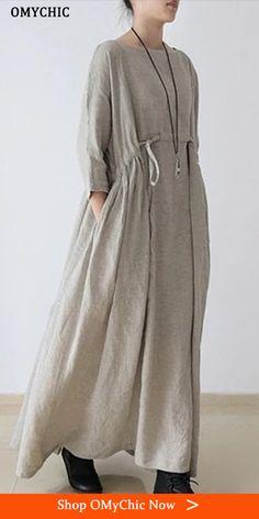 Muslim Fashion, Modest Fashion, Hijab Fashion, Boho Fashion, Fashion Dresses, Womens Fashion, Fashion Design, Linen Dresses, Cotton Dresses