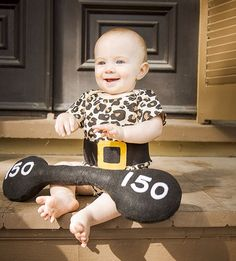 Strong Man Baby Costume, Circus Performer Costume.  Halloween for Baby!  $42