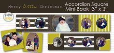 Merry Little Christmas Accordion SQUARE Mini by gradybugdesigns