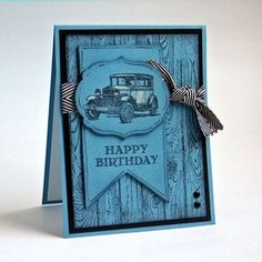 Guy Greetings - Stampin Up - What color is this card?