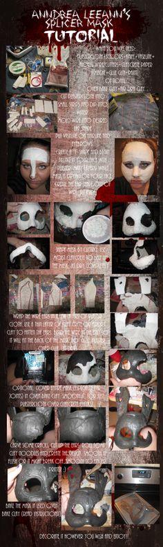 Splicer mask tutorial from Bioshock by AnndreaLeeann on deviantART