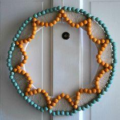 Wooden Bead Wreath · Home and Garden | CraftGossip.com #wreath #Christmas # DIY