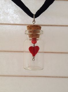 "Collana ""Heart in the Bottle"" Collar ""Heart in the Bottle"""