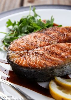 **Salmon with Balsamic Glaze**  Into the dinner rotation this goes - I have everything on hand!