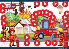 Interactieve praatplaat brandweer, kleuteridee by juf Petra, met veel informatieve video's en spelletjes