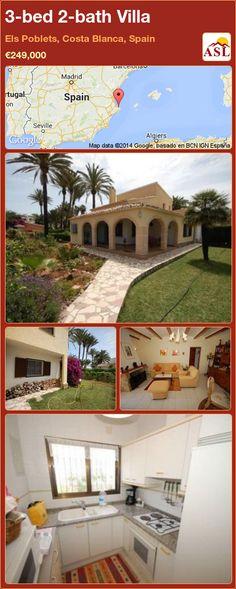 3-bed 2-bath Villa in Els Poblets, Costa Blanca, Spain ►€249,000 #PropertyForSaleInSpain