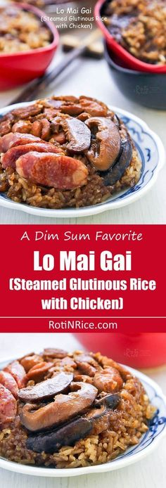 beef sausage Make Lo Mai Gai (Steamed Glutinous Rice with Chicken), a classic dim sum dish at home with detailed video and step-by-step pictorial instructions. Dim Sum, Sticky Rice Recipes, Chinese Vegetables, Brunch, Singapore Food, Malaysian Food, Glutinous Rice, Asian Cooking, Cooking Salmon