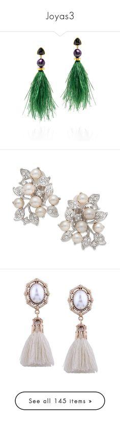 """Joyas3"" by sukia ❤ liked on Polyvore featuring jewelry, earrings, earring jewelry, tribal jewelry, polish jewelry, emerald green jewelry, tribal earrings, pearl, leaf jewelry and imitation pearl earrings"