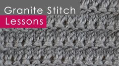 How to Knit the Granite Stitch with Studio Knit - LOVE this stitch. Reminds me of a treble crochet. So simple.