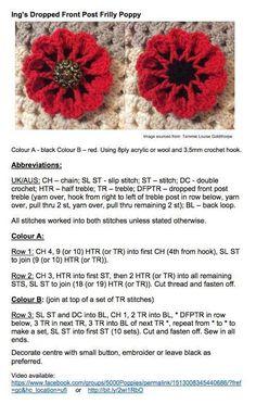 Ing's crochet poppy