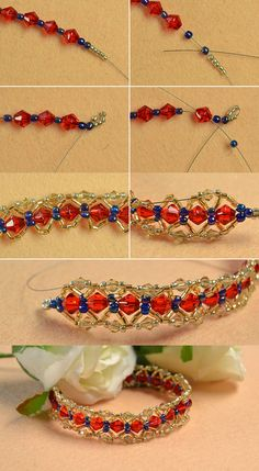 red beads bracelet, like them? LC.Pandahall.com will publish the tutorial soon.