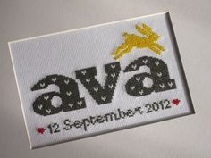 Ava and the bunny Cross stitch