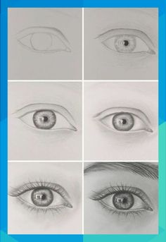 If you are new to drawing this post is for you. You should practice much for improve your draws. Today I listed easy eye drawing tutorials for you. I hope you like! I recommend other posts of my step by step drawing serie: Draw Flowers for Beginners- Step Easy Pencil Drawings, Easy Eye Drawing, Eye Pencil Drawing, Eye Drawing Tutorials, Drawing Tutorials For Beginners, Kawaii Drawings, Drawing Tips, Drawing Sketches, Drawing Base