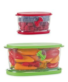 Another great find on #zulily! Fruit & Vegetable Keeper Set #zulilyfinds