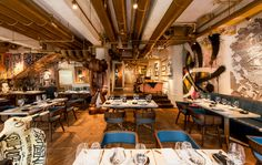 BIBO restaurant in hong kong furnished with street art - designboom | architecture