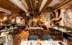 BIBO restaurant in hong kong furnished with street art - designboom | architecture