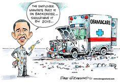 Obamacare Mandate Delayed - Dave Granlund -Davegranlund.com