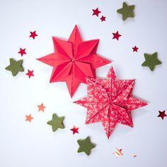 German Winter crafts for kids | Fold 3D stars (German instructions) 3D-Sterne falten bei heimwerker.de