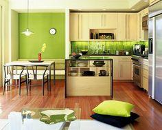 Amenajari de bucatarii moderne cu accente de culoare- Inspiratie in amenajarea casei - www.povesteacasei.ro