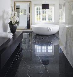 Magical black & white bathroom ⎮ Salle de bain noire & blanche