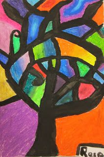 Great abstract tree lesson