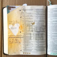 Trust Him #journalingbible.  Mask and spray in journaling Bible.  Simple, yet beautiful.