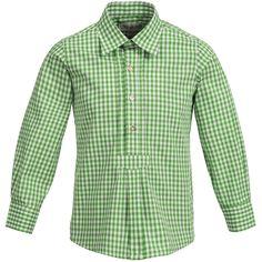 Trachtenhemd für Kinder in Grün von Almsach
